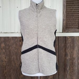 Ibex full zip vest size XS merino wool blend